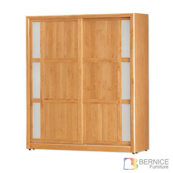 Bernice-艾斯特6尺實木推門/拉門衣櫃
