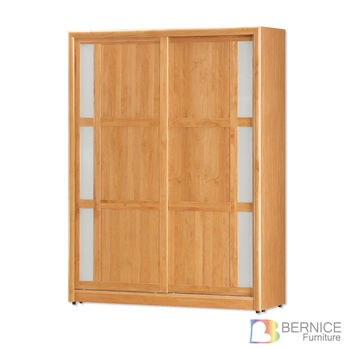 Bernice-艾斯特4尺實木推門/拉門衣櫃