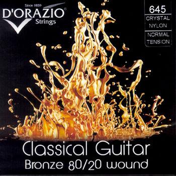 DORAZIO 義大利手工製 NO.645 古典吉他弦 (80/20青銅、水晶尼龍)