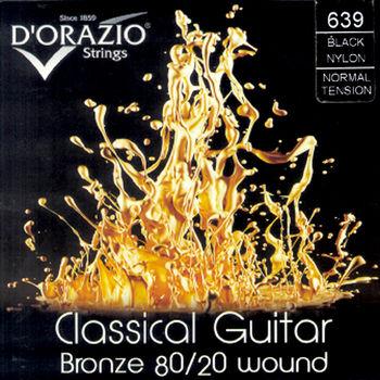 DORAZIO 義大利手工製 NO.639 古典吉他弦 (80/20青銅、黑尼龍)