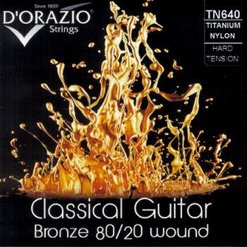 DORAZIO 義大利手工製  NO.TN640 古典吉他弦 (80/20青銅、鈦尼龍)