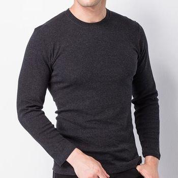 MORINO彩色純棉毛圓領衫-黑色