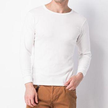 MORINO型男長袖棉毛圓領衫