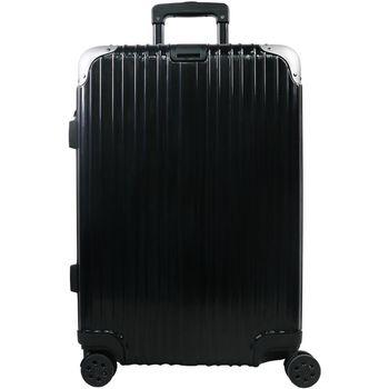 【RAIN DEER】香榭玫瑰29吋PC鏡面海關鎖行李箱(神秘黑)
