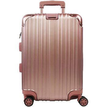 【RAIN DEER】 香榭玫瑰20吋PC鏡面海關鎖行李箱(玫瑰金)