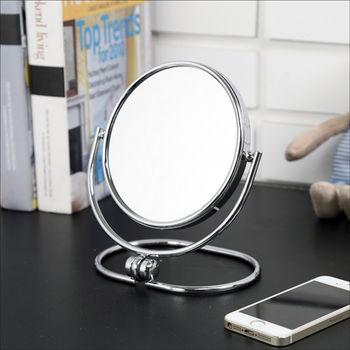 BuyJM 摺疊式2倍放大雙面化妝鏡/立鏡(2入)