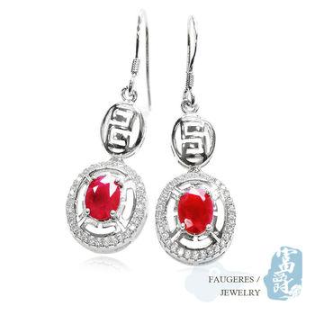 【富爵珠寶】天然紅寶石-紅火之舞耳環-T0027S_3
