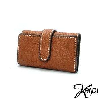 【KANDI】經典鑰匙鈔票夾牛皮小包