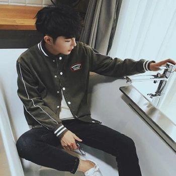【協貿國際】棒球服時尚韓版潮長袖外套男士單件
