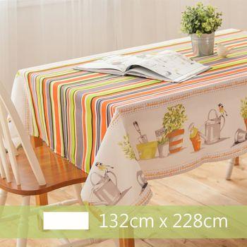【Robert Green 格林家飾】 布桌巾 花園訪客 132x228cm