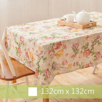【Robert Green 格林家飾】 布桌巾 粉色玫瑰園 132x132cm