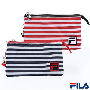 FILA多功能條紋手拿包(兩色可選)PWQ-5501