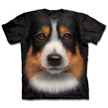 【摩達客】(預購)(大尺碼3XL)美國進口The Mountain澳洲邊境牧羊犬 純棉環保短袖 T恤