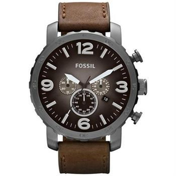 FOSSIL 大世紀戰神計時腕錶-灰黑x咖啡/50mm JR1424