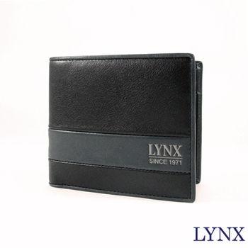 【Lynx】經典雙色拼接男仕短夾
