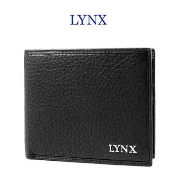【Lynx】俐落簡約男用5卡短夾(黑)