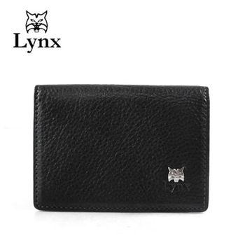 【Lynx】簡約時尚名片夾-黑