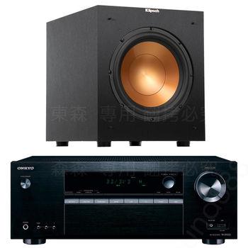 劇院喇叭組 ONKYO TX-SR353 5.1聲道擴大機+Klipsch R-10SW 超重低音 喇叭