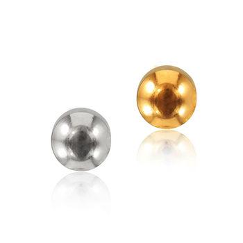 ART64 耳環 抗過敏耳環-幾何:圓弧 銀/金色耳針(小)