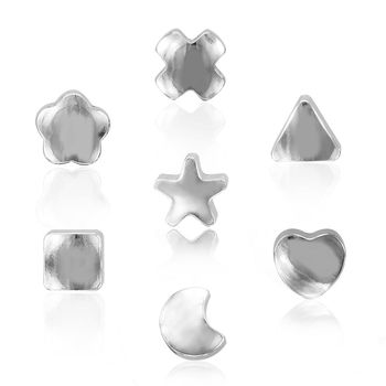 ART64 耳環 抗過敏耳環-幾何系列 銀色耳針(中)