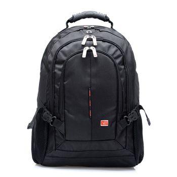 【W.I.B.】 15.6吋 造型電腦包/後背包/筆電包 WB1202BK 黑色
