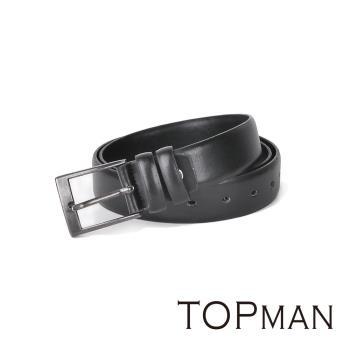 【TOPMAN】美式休閒。簡約仿舊/金屬針扣男仕皮帶(四色任選)