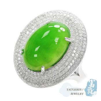 【富爵珠寶】天然和闐碧玉-菠菜綠奢華大碧玉戒指-T0006S_2