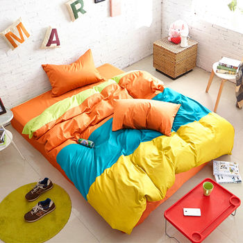 RODERLY 橘子QQ糖 雙人四件式被套床包組 獨家贈限量甜甜圈抱枕