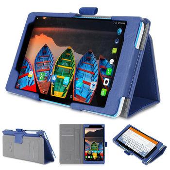 聯想 Lenovo Tab3 7 730 730X 平板電腦皮套 磁釦保護套 可手持帶筆插卡片槽 牛皮紋路