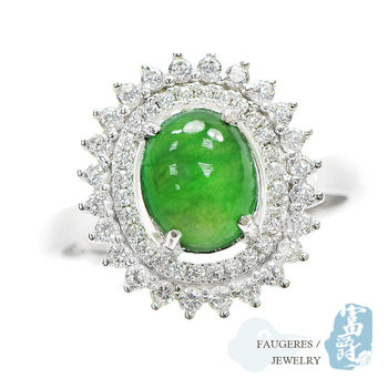 【富爵珠寶】天然A貨翡翠-璀璨老坑冰種翡翠戒指-T0001S