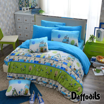 Daffodils《慵懶日記》超保暖雪芙絨雙人加大四件式被套床包組