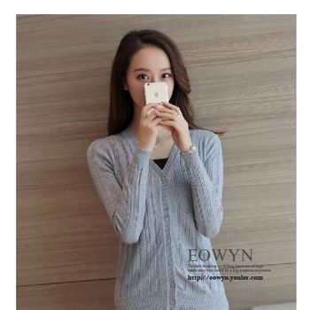 實拍秋短款薄針織衫女開衫毛衣圓領空調衫外搭镂空披肩小外套黑色/白色/粉紅色/灰色/均碼