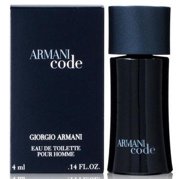 GIORGIO ARMANI 亞曼尼 黑色密碼男性淡香水 4ml