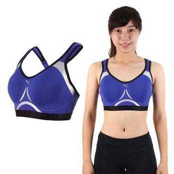 【PUMA】PWRSHAPE 女訓練系列高衝擊運動內衣-運動背心 健身 藍黑銀