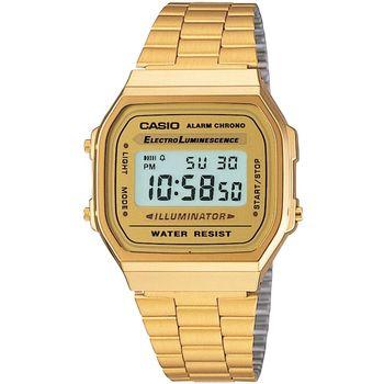 CASIO 金色經典復刻電子錶_A-168WG-9W