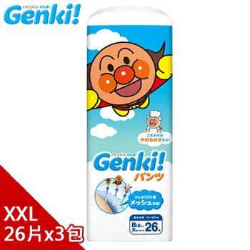 日本境內 Nepia Genki!麵包超人拉拉褲XXL26*3