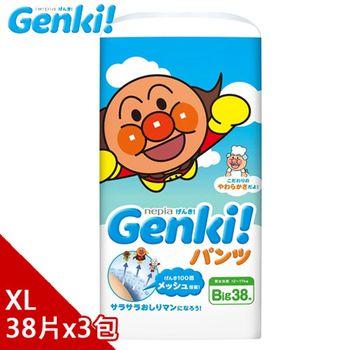 日本境內 Nepia Genki!麵包超人拉拉褲XL38*3