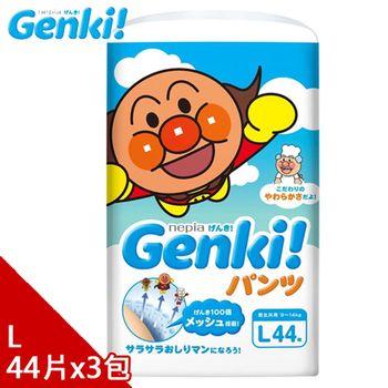 日本境內 Nepia Genki!麵包超人拉拉褲L44*3