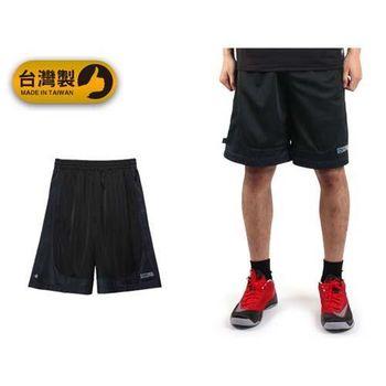 【FIRESTAR】男運動短褲-台灣製 籃球褲 休閒短褲 五分褲 黑寶藍  台灣製造