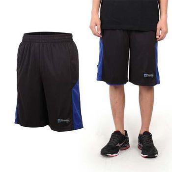 【FIRESTAR】男籃球褲-運動短褲 五分褲 休閒短褲 黑藍  可雙面穿