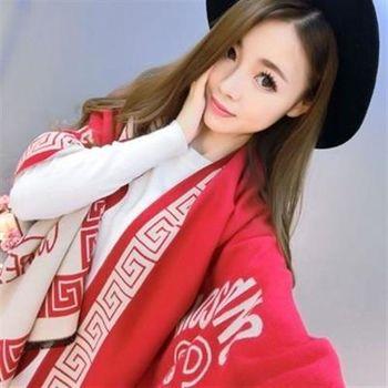 【米蘭精品】圍巾羊毛絨長披肩日系風格時尚小熊圍脖2色73hy14