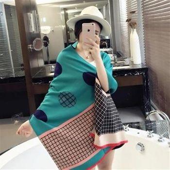 【米蘭精品】圍巾羊毛絨長披肩歐美時尚英倫格紋圍脖4色73hy16