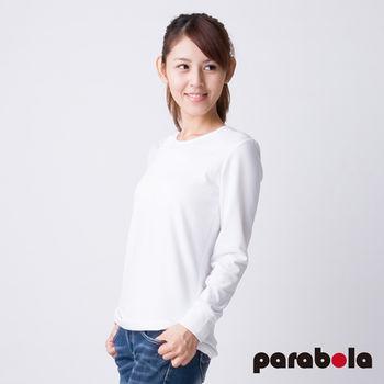 3M Parabela發熱衣 女圓領 白色