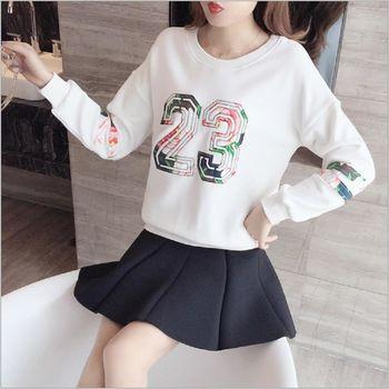 (現貨+預購 RN-girls)-韓版秋冬裝新款時尚顯瘦刺繡休閒百搭上衣