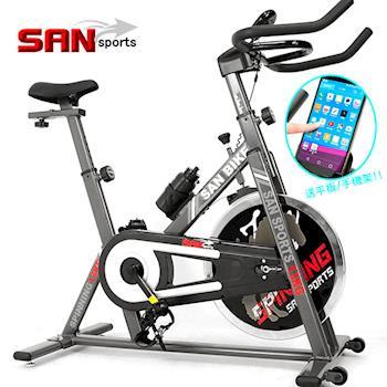 【SAN SPORTS】黑爵士13KG飛輪健身車