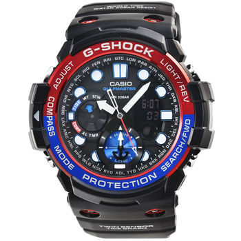 CASIO 卡西歐G-SHOCK 潛水鬧鈴電子錶-黑藍 / GN-1000-1A