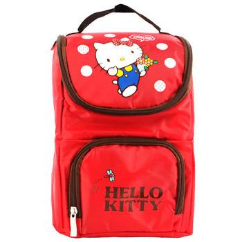 Hello Kitty 雙層手提保溫便當袋-紅色