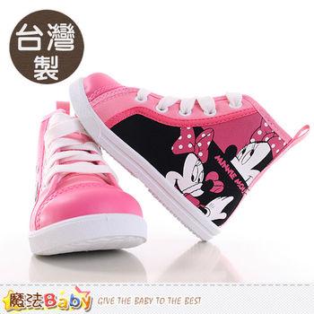魔法Baby 女童鞋 台灣製迪士尼米妮正版高筒帆布鞋~sh9946