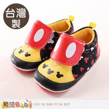 魔法Baby 寶寶鞋 台灣製迪士尼米奇正版強止滑鞋~sh9938
