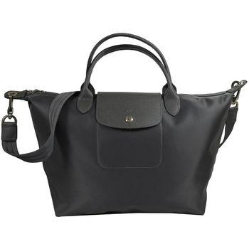 Longchamp Le Pliage Neo 折疊厚尼龍短把兩用包.深灰#1515